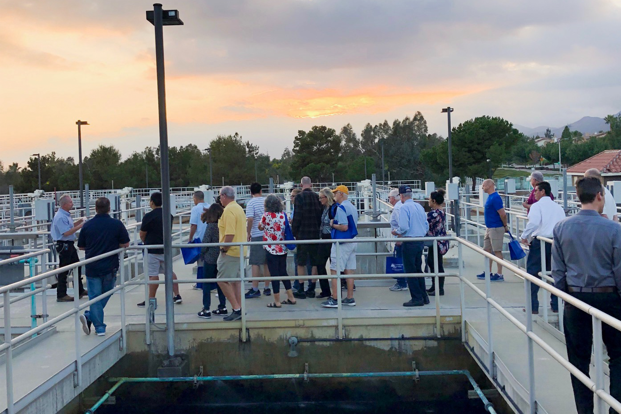 CVWD Water Tour Attendees at Basins