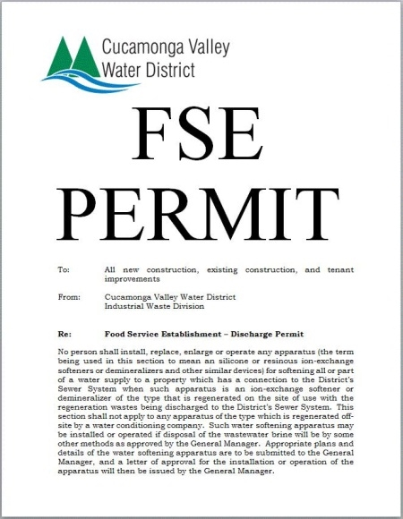 Example of FSE Permit